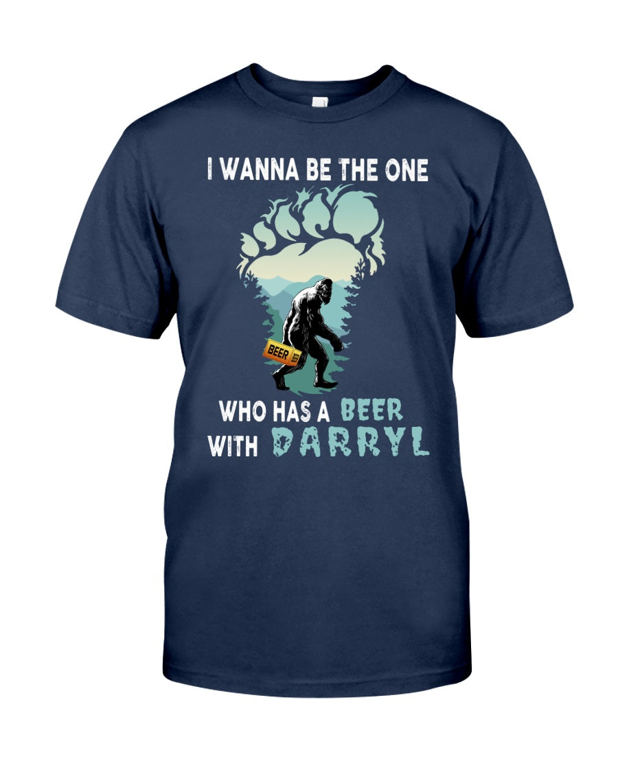 Who has a beer with Darryl T-Shirt