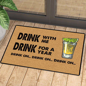 Drink on tequila mat