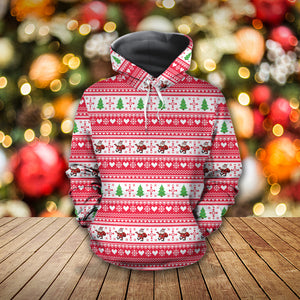 Christmas Pattern With Santa Claus Hoodie 3D