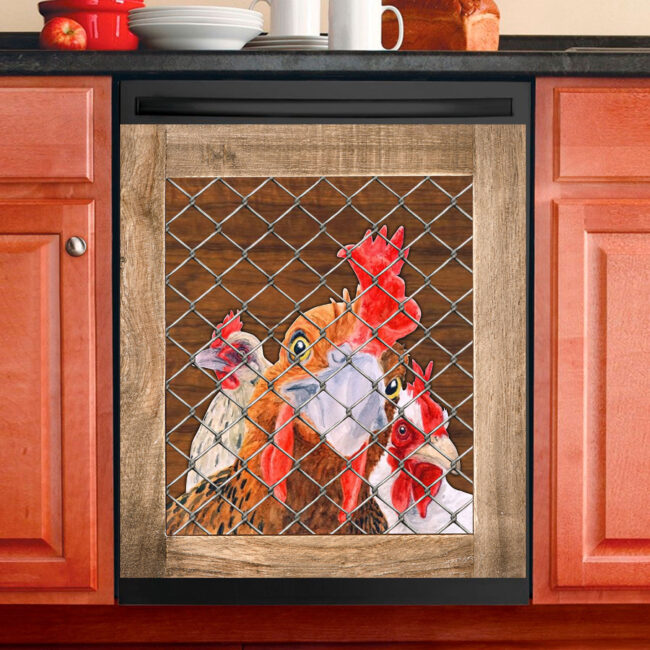 ROOSTER CHICKEN DECOR KITCHEN DISHWASHER COVER 10