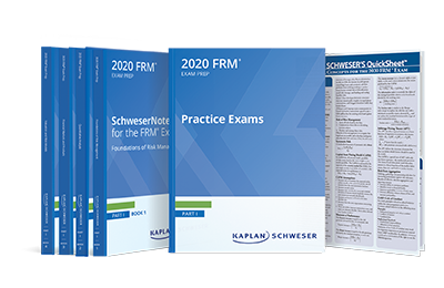 2020 FRM Part Kaplan Schweser 1 - ( 4 books + 1 practice book + Quick sheet )