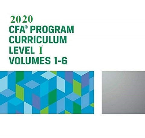 2020 CFA Level 1 Curriculum (Set of 6 Books)