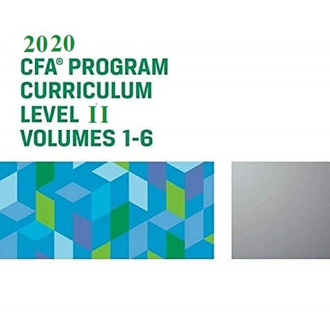 2020 CFA Level 2 Curriculum (Set of 6 Books)