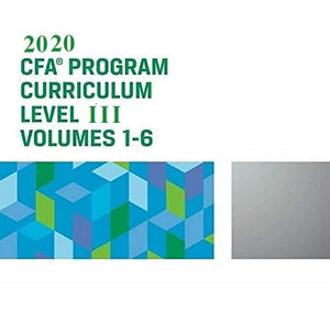 2020 CFA Level 3 Curriculum (Set of 6 Books)