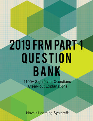 2019 FRM Part 1 Question Bank - Booksgrab