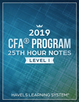 CFA Level 1- 25th HOUR Notes - Booksgrab