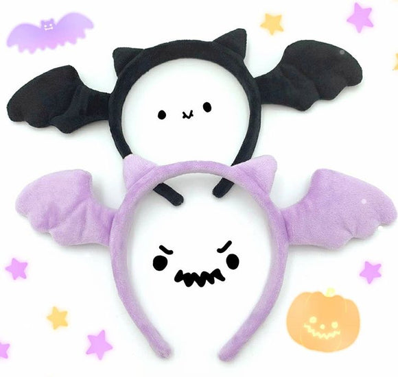 Spooky Halloween Bat Headband - Bat ears and wings accessory