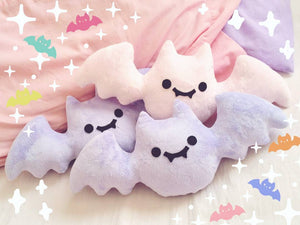 Creepy Cute Bat Plush/Plushie - Lavender, Baby Blue and Baby Pink