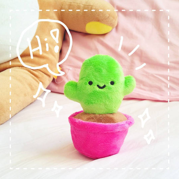Cute Happy Cactus Plush Toy - Plushie Fabric Cacti