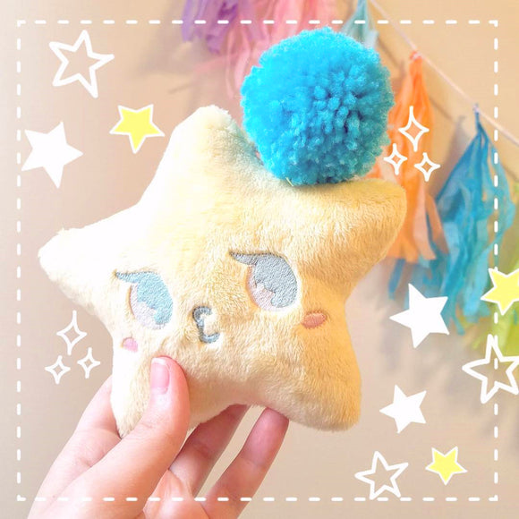 Kawaii Star Plush Keychain