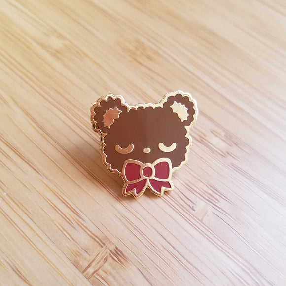 CLEARANCE Sleepy Bear Enamel Pin - Kawaii Teddy Bear Enamel Pin