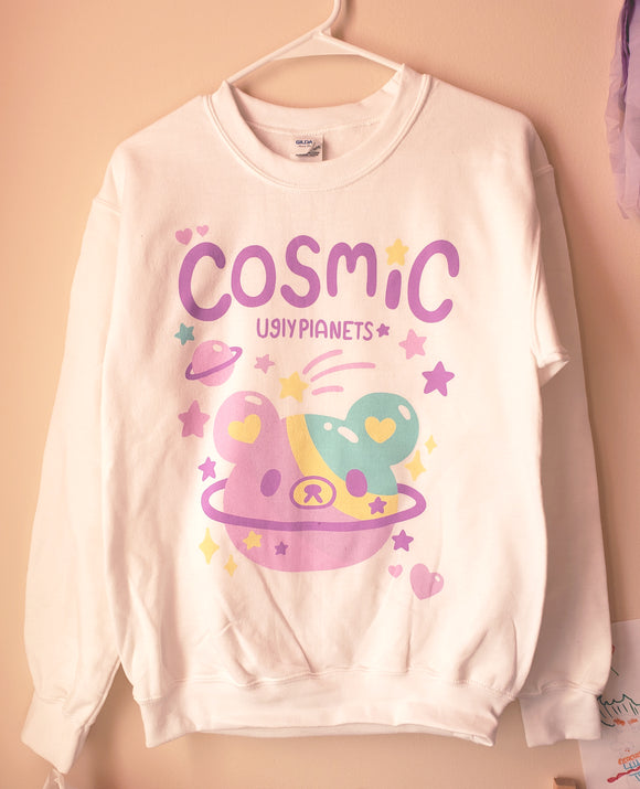 Cosmic Bear Sweatshirt - Uchuu Kei Pastel Sweater
