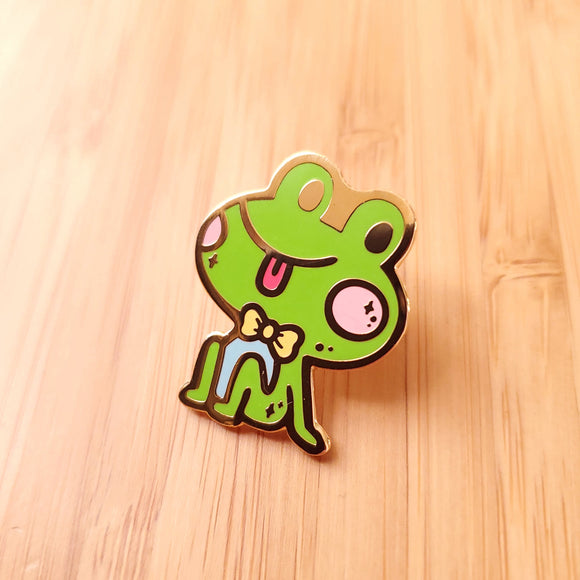 Dapper Happy Frog Enamel Pin