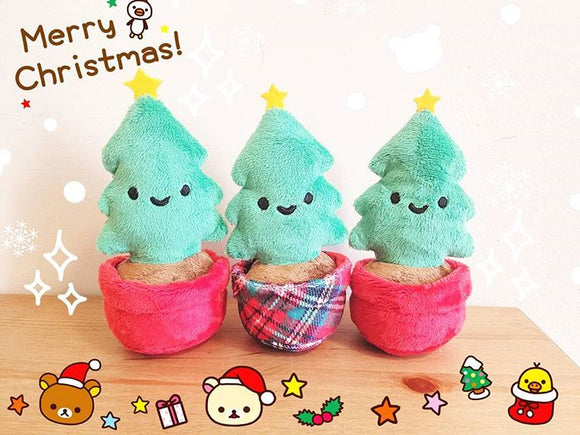 Mini Christmas Tree - Cute Plush Christmas Tree Potted Plant