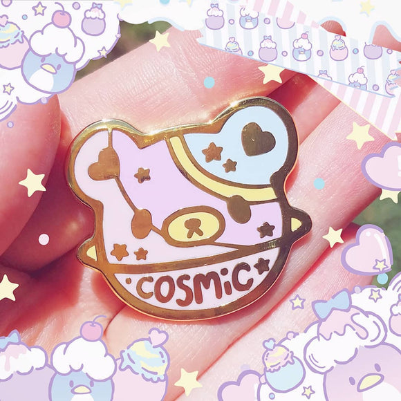 cosmic bear enamel pin - uchuu kei cosmic brat pin