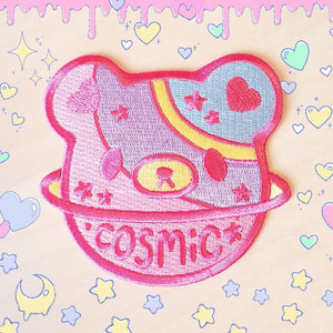 Cosmic Bear Iron-on Patch - Kawaii DIY Uchuu-kei patch