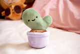 Cute Happy Prickly Pear Cactus Plush Toy - Plushie Fabric Cacti