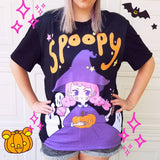 Spoopy Halloween T-Shirt - Kawaii Spooky Cute Witch Shirt