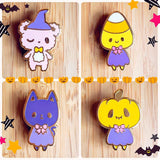 Spooky Kids Enamel Pin Set- Kawaii Halloween Pins