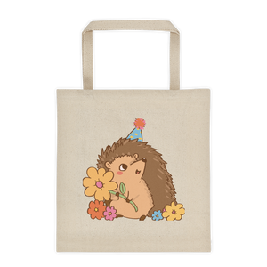 Forest Party Hedgehog Tote Bag - Cute Hoge Tote