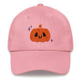 Cute Jack-o-Lantern Halloween Hat - Pumpkin Cap Dad Hat PINK AND BLACK