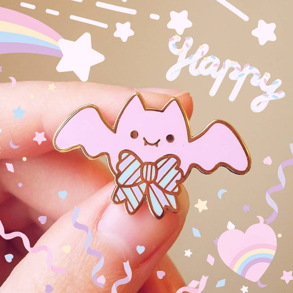 CLEARANCE SECONDS SALE Pastel Bat Pin - Yumekawaii Enamel Pin
