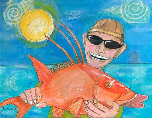 Hogfish Heaven Matted Giclee Print