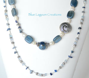 Beaded Two Strand Necklace