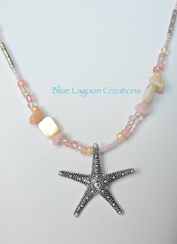 Peach Star Fish Necklace
