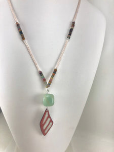 Tourmaline Butterfly Wing Necklace
