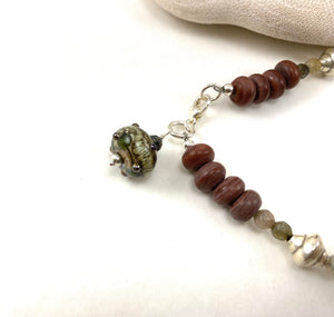 Jasper and Labradorite Beaded Bracelet For Men