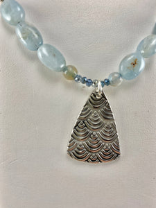 Amazonite and Agate Beaded Pendant Necklace