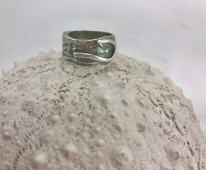 Silver Fishing Hook Ring