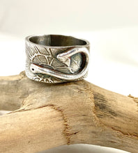 Load image into Gallery viewer, Silver Fish Hook Ring