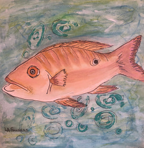 Mutton On The Reef Mixed Media Painting