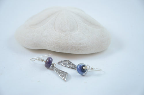 Lampwork Bead & Fine Silver Earrings