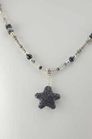 Black and White Starfish Necklace