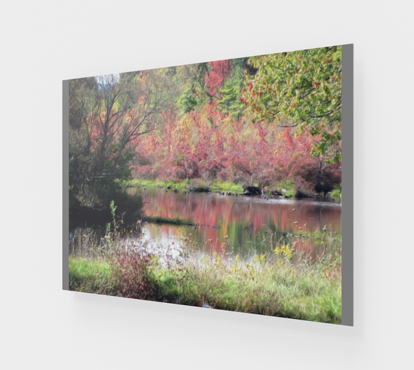Pond in Fall ACRYLITE® Print