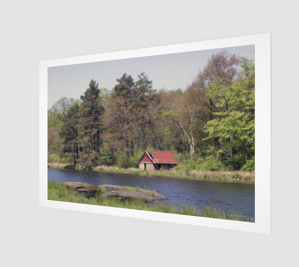 Pond and Shed Art Print