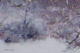 Snowy Trees Wood Print