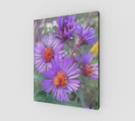 Purple Flowers on Canvas