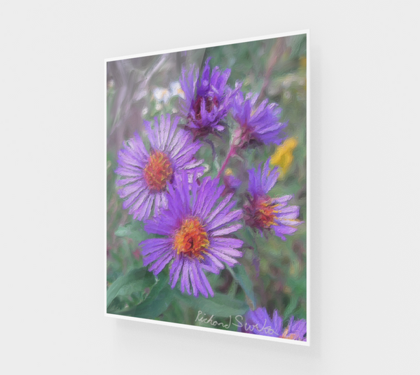 Purple Flowers ACRYLITE® Print