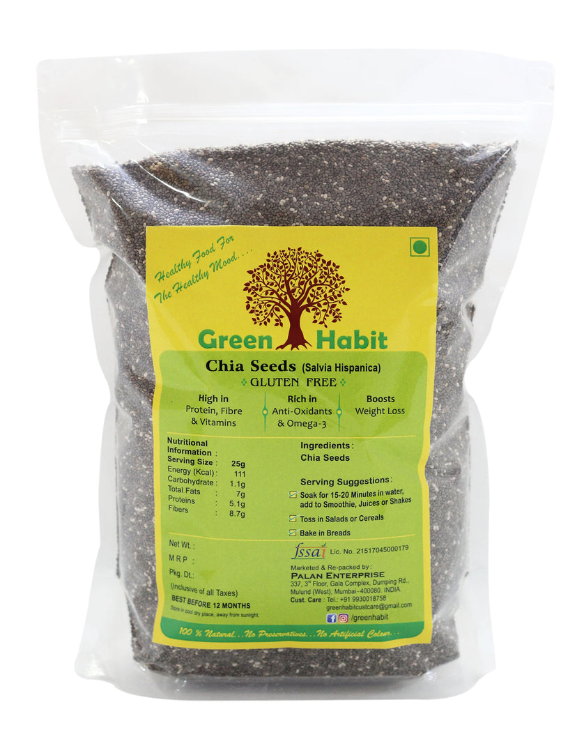 Green Habit Black Chia Seeds Salvia Hispanica (For Weight Loss)