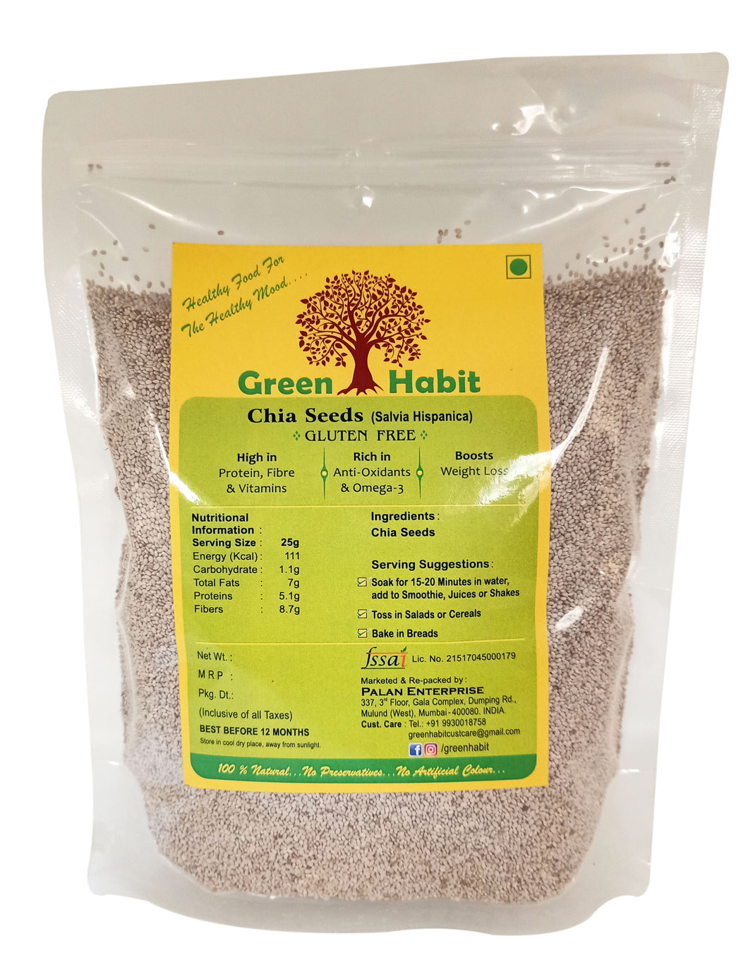 GreenHabit Healthy & Nutritious Super Food White Chia Seeds (Salvia Hispanica)