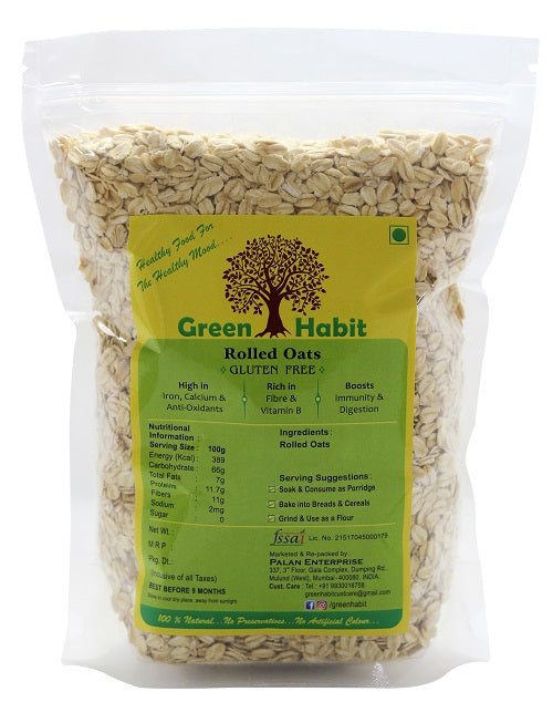 Green Habit Gluten Free Rolled Oats (Old Fashioned Oats)