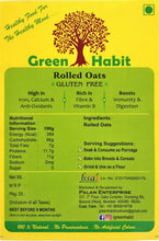 Load image into Gallery viewer, Green Habit Gluten Free Rolled Oats (Old Fashioned Oats)