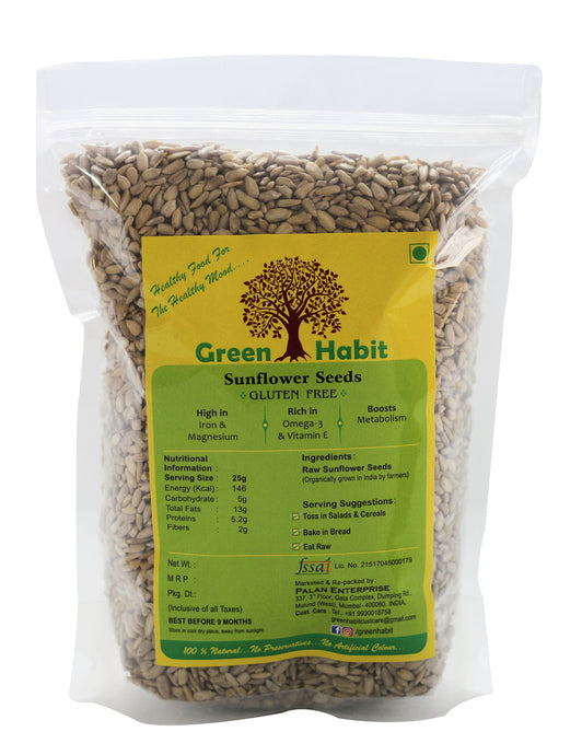 Green Habit Raw Sunflower Seeds Ozonated/Dehydrated