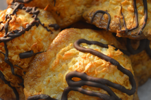 Load image into Gallery viewer, Chocolate Drizzled Coconut Macaroons (4)
