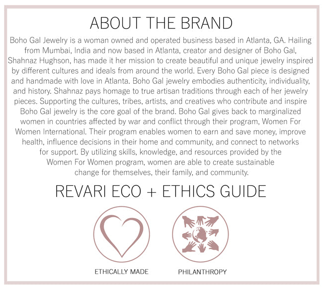 Boho Gal Jewelry Eco and Ethics Guide