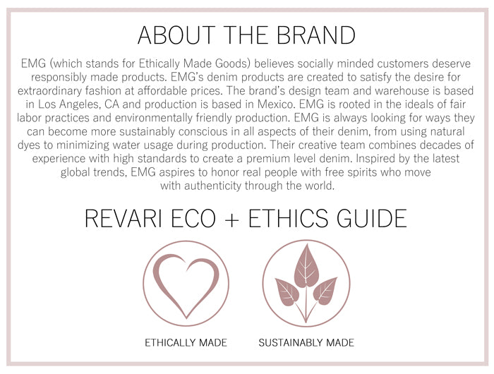 EMG Denim Eco and Ethics Guide